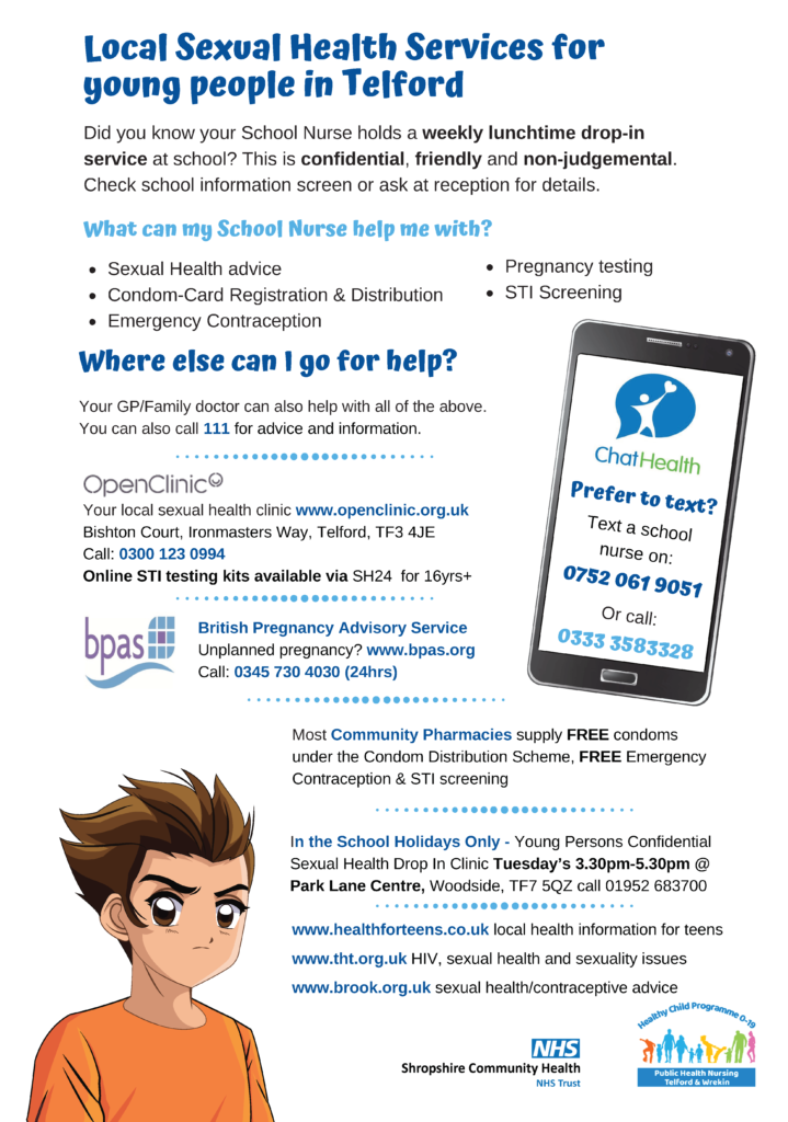 School Nurse Sexual Health Services for Young People Poster