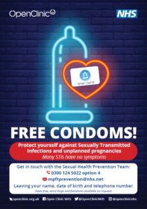South Staffs Free Condoms Poster